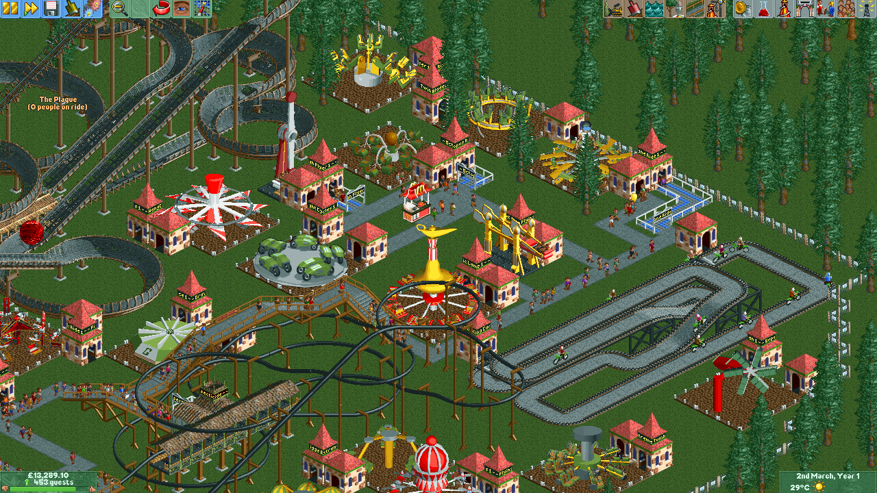 Im searching Costum Rides for Openrct2 - Custom Content - OpenRCT2