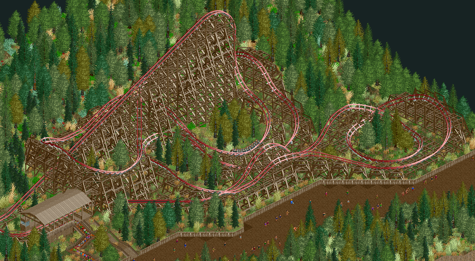 An RMC hybrid coaster I made today - Parks - OpenRCT2