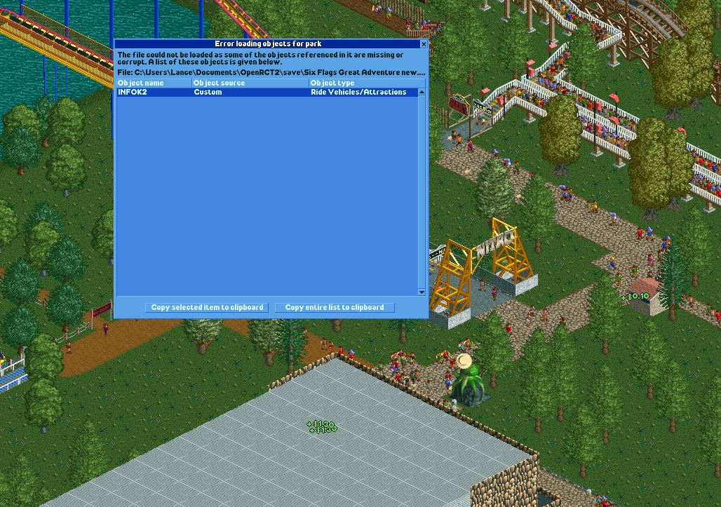 custom content not recognised - Problems, Bugs and Feedback - OpenRCT2