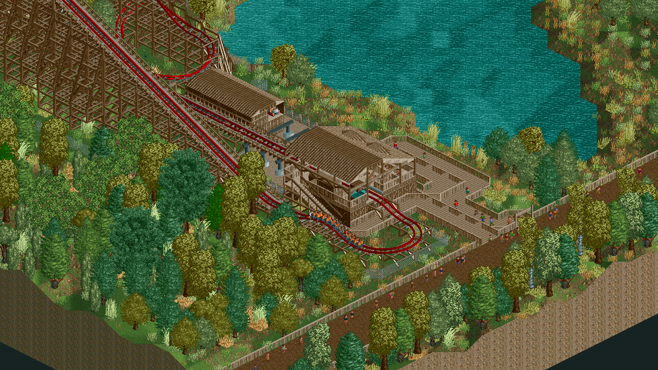 An RMC hybrid coaster. - Parks - OpenRCT2