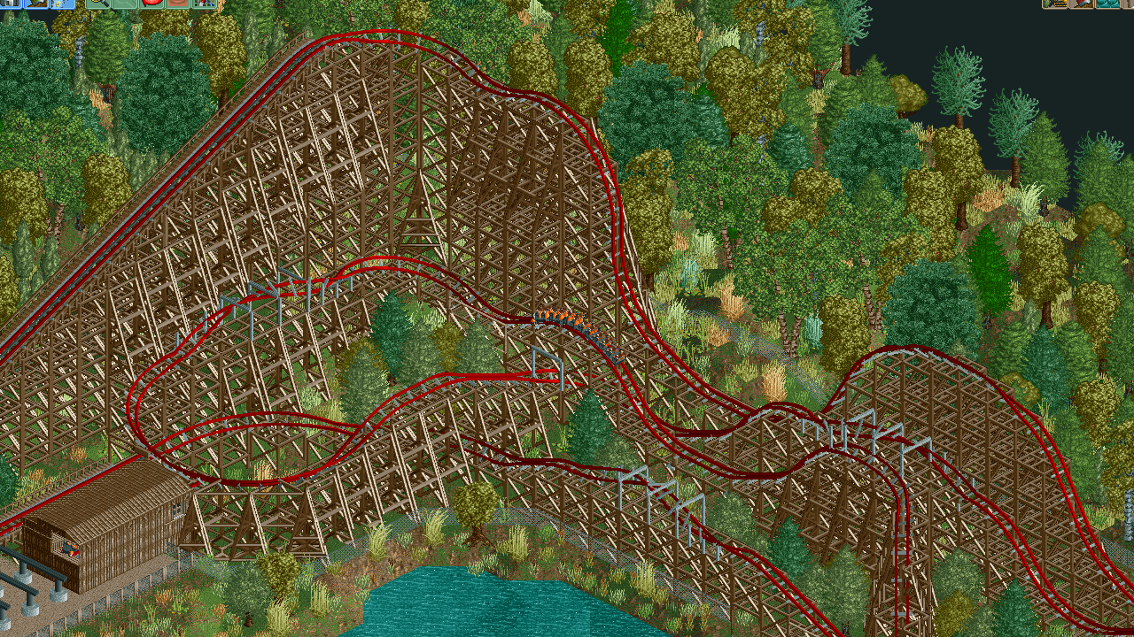 An RMC hybrid coaster  - Parks - OpenRCT2